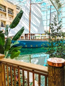 Gaylord Palms indoor boat restaurant