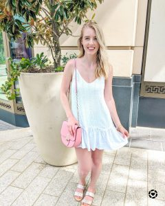 white eyelet ruffle dress on LikeToKnow.it