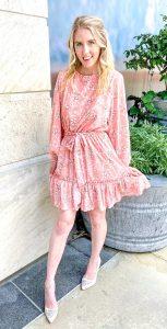 floral chiffon ruffle dress