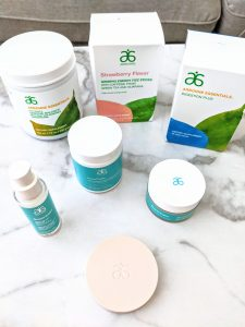 Arbonne nutrition and skincare products