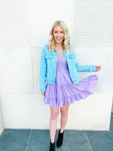 Pink Lily purple spring dress