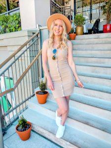 Pink Lily Beige Dress