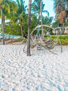 Playa Largo hammocks on the beach